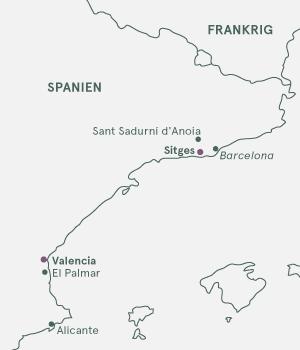 Kort over Spanien - Smag på Spanien