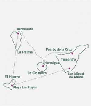 Kort - Spanske Atlanterhavsøer