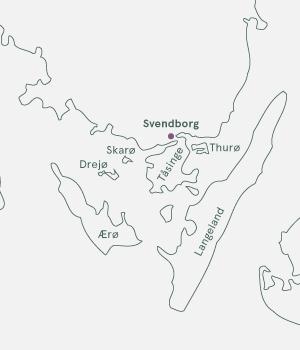 Kort - Cykelferie på Sydfyn - Sommer 2021