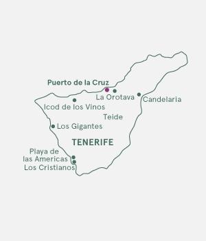 Kort over Tenerfie
