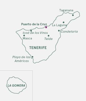 Kort Tenerife - Tenerife Langtid