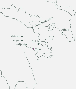 Kort - Tolo og Peleponnes - Efterår 2020