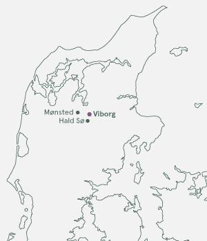 Kort - Viborg - Vin og vandring - Sommer 2020