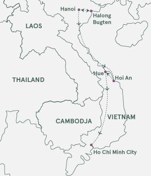 Kort over Vietnam - Vietnam