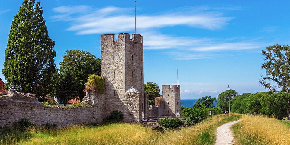 Visbys 3,4 kilometer lange gamle bymur fra middelalderen.