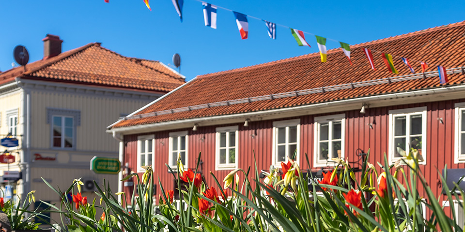 Den hyggelige svenske by Gränna ved Vätternsøen.