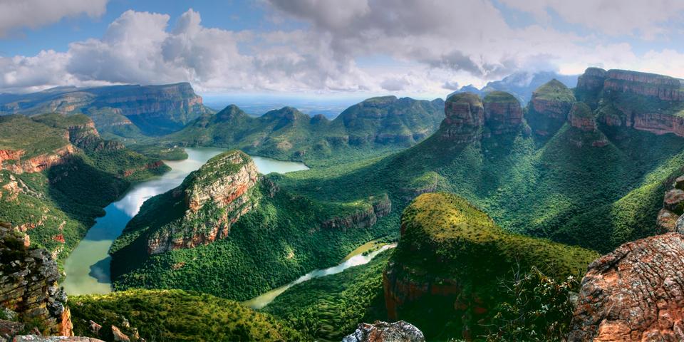 Udsigt over Blyde River Canyon.