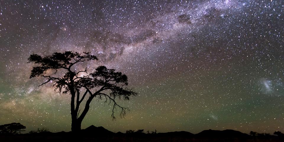 Middag under den sydafrikanske stjernehimmel.
