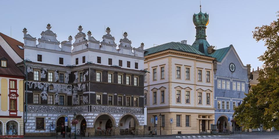 Smukke bygninger i Lovosice.