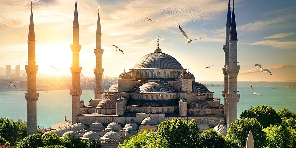 Den Blå Moské i Istanbul.
