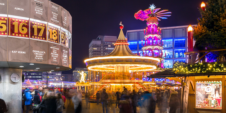 Julemarked på Alexanderplatz.