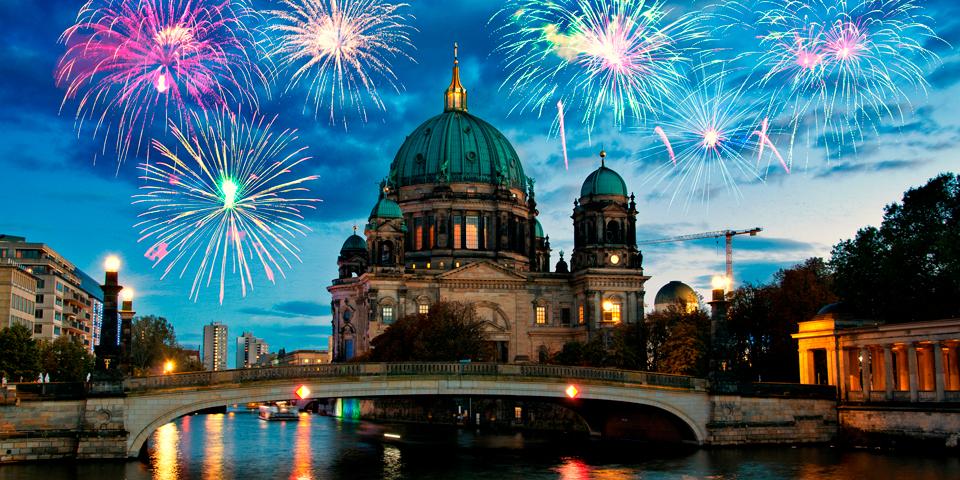 Nytåret skydes ind i Berlin.