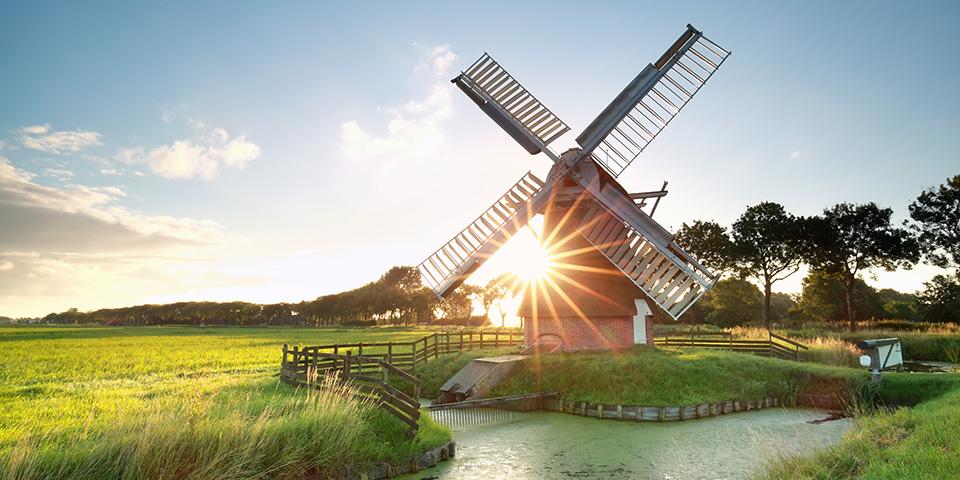 Klassisk hollandsk vindmølle.