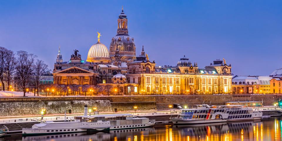 Skibe ligger klar til deres gæster i Dresden.