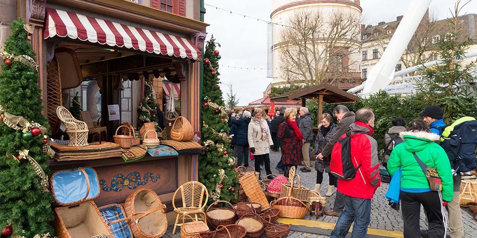 Det hyggelige julemarkedet i Dusseldorf.