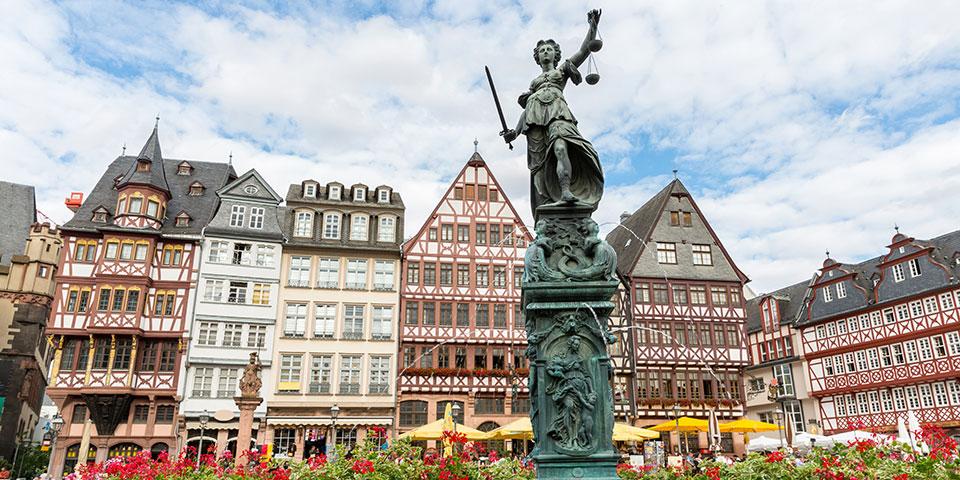 Frankfurts fine gamle centrum.