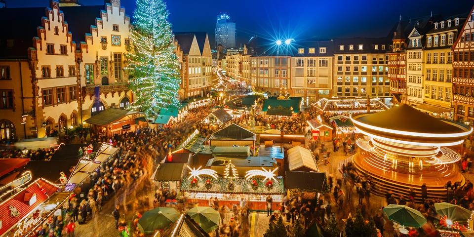 Det farverige julemarked i Frankfurt am Main.