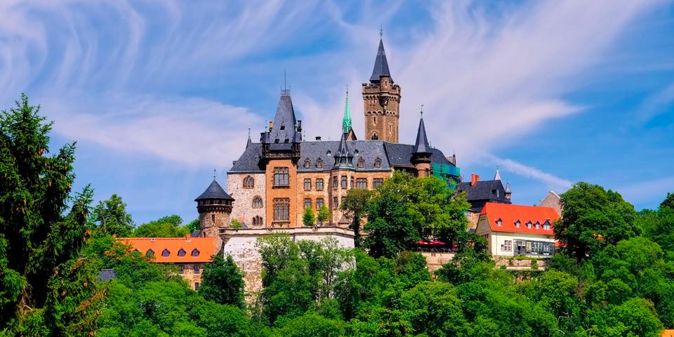 Slottet troner over hyggelige Wernigerode.