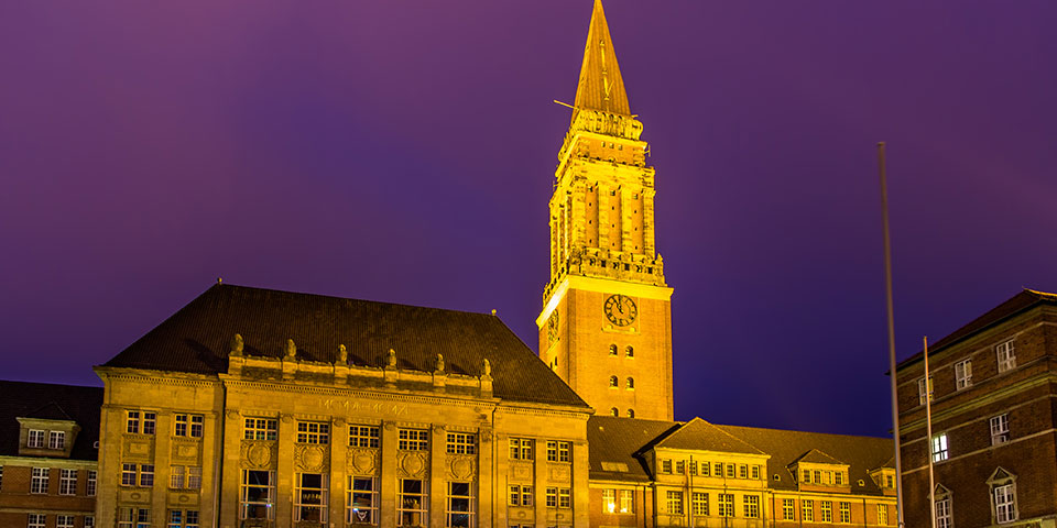 Kiels imponerende rådhus.