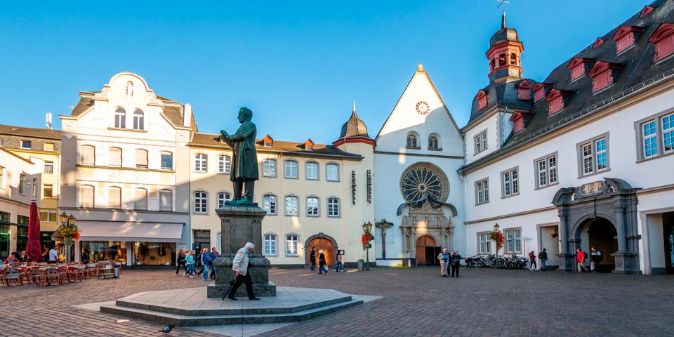 Koblenz i Tyskland.