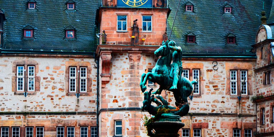 Rådhuset i Marburg.