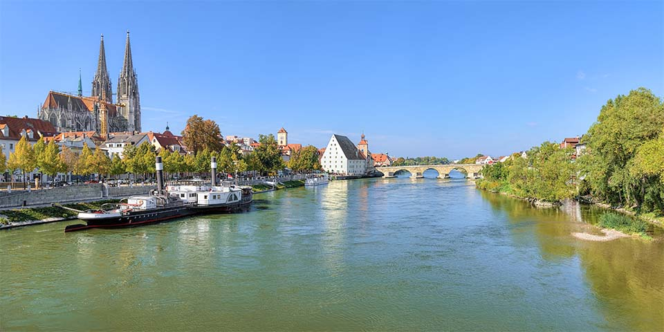 Den 2.000 år gamle by Regensburg.