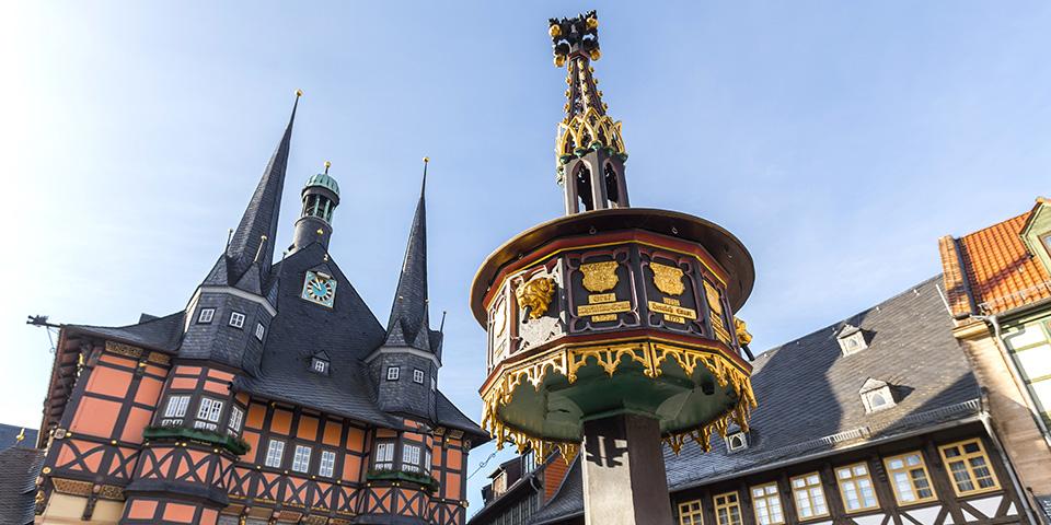Det berømte rådhus i Wernigerode.