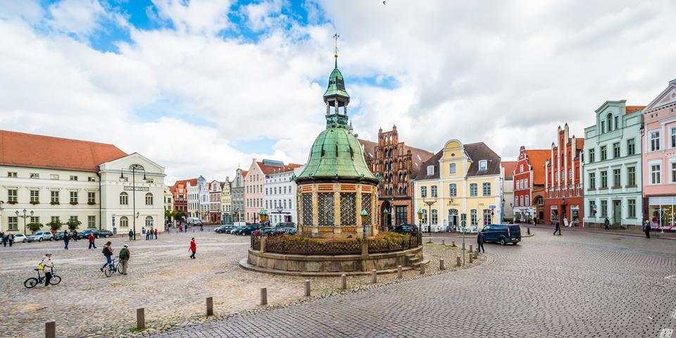 Det centrale torv i Wismar.