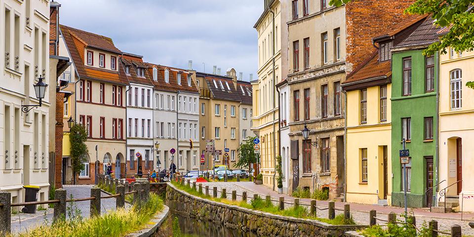 Den gamle bydel i Wismar.