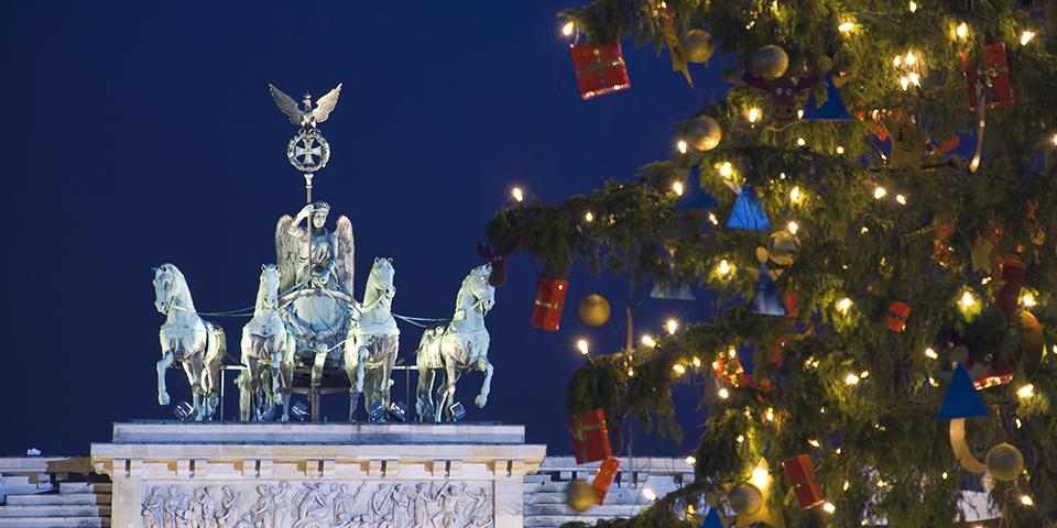 Juletræet ved Brandenburger Tor.