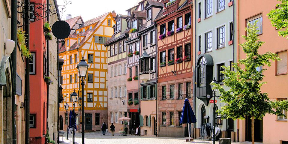 Den gamle bydel i Nürnberg.