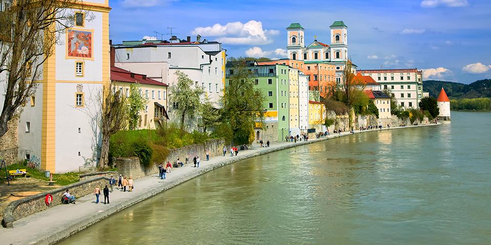 Den hygelige Dreiflussestadt, Passau.