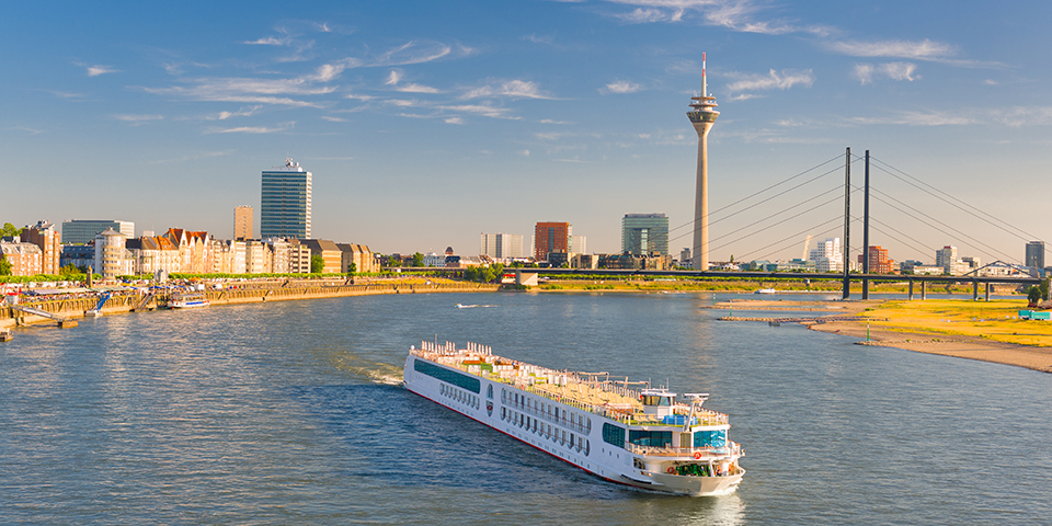 Düsseldorf ved Rhinen.