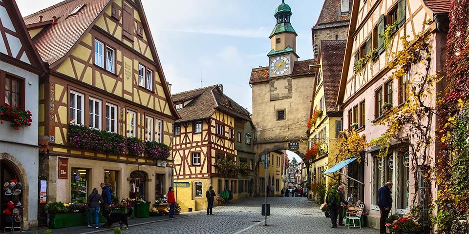 Bindingsværksbyen Rothenburg od Tauber.