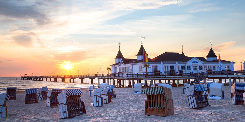 Den berømte mole på Usedom i Tyskland.