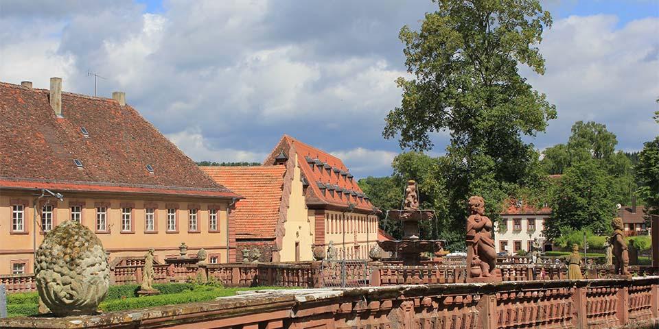 Cistercienser-klostre Kloster Bronnbach ved Wertheim