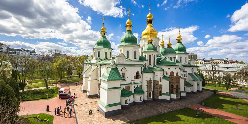 Skt. Sofia-katedralen med sine gyldne kupler.