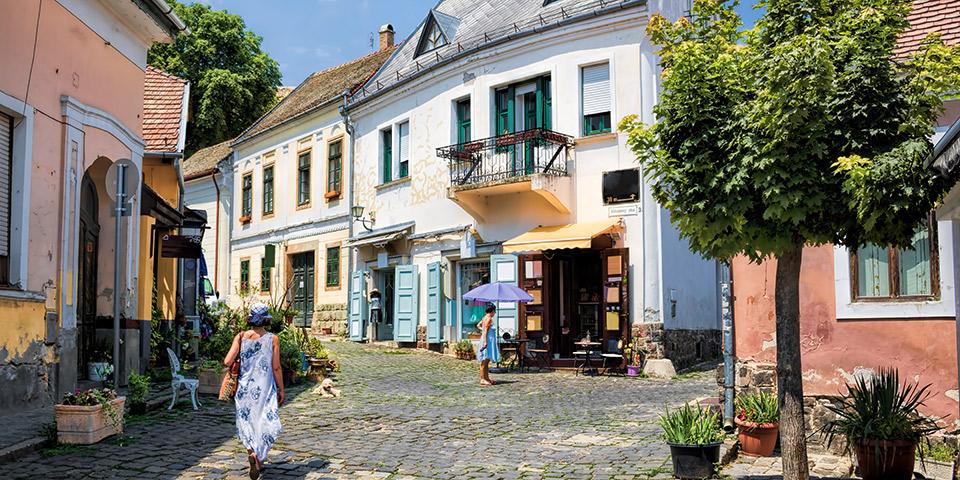 Den charmerende kunstnerby Szentendre.