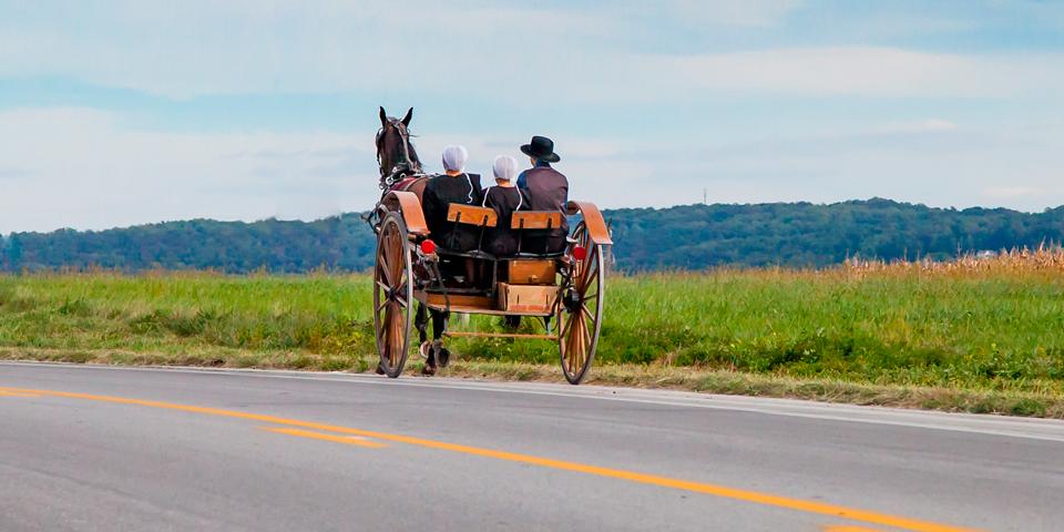 Kom helt ned i tempo, når vi besøger amish-folket.