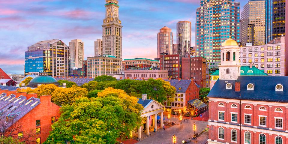 Hyggelige, historiske Boston.