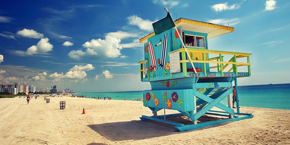 Nyd solen på Miami Beach.