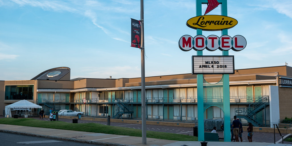 Civil Rights-museet i det gamle Lorraine Motel.