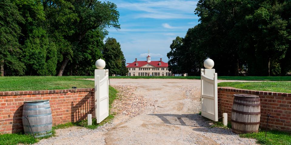 Mount Vernon - George Washingtons plantage i Virginia.