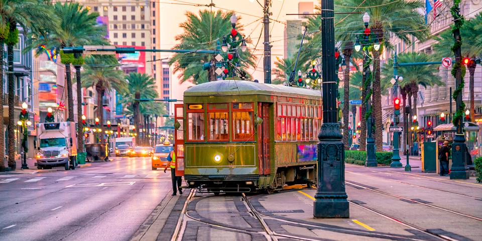 Sporvogn i New Orleans.