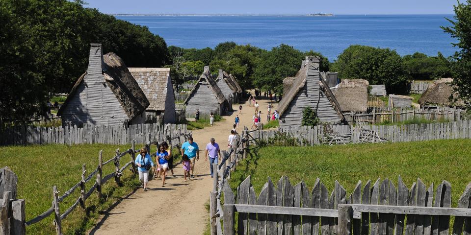Plimoth Plantation, som er et levende historisk museum.