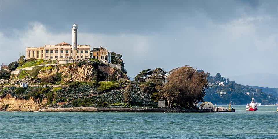 Fængselsøen Alcatraz hvor du kan se Al Capones celle nr. 85.