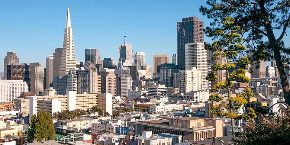 Vi siger farvel til San Francisco.
