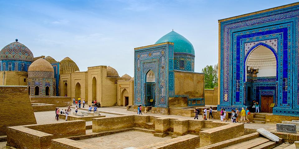 Den fantastiske Registanplads i Samarkand.