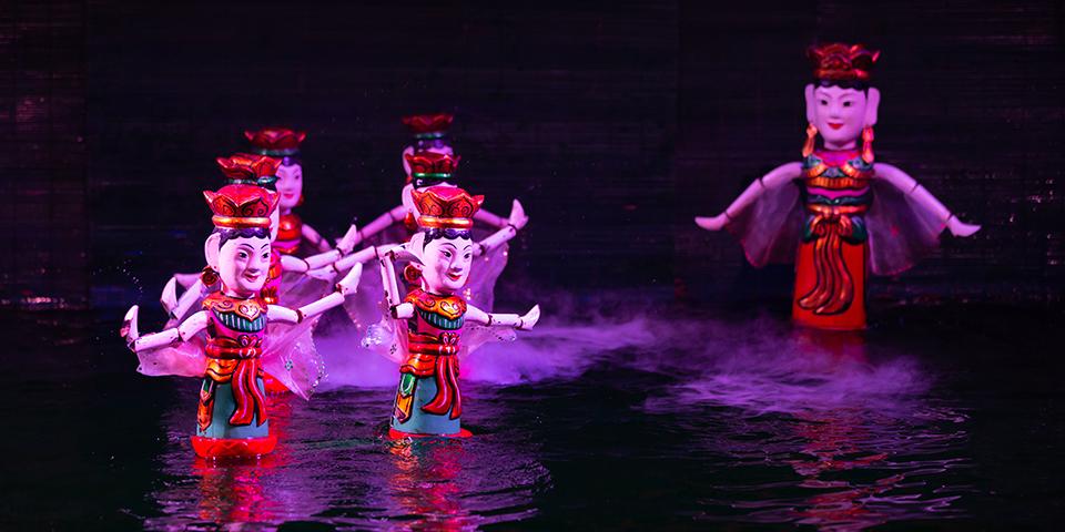 Vanddukkeshow i Hanoi.