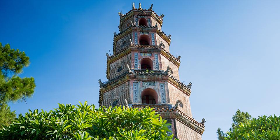Den 21 meter høje Tien Mu-pagode.